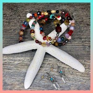 Bohemian bracelet/earrings bundle